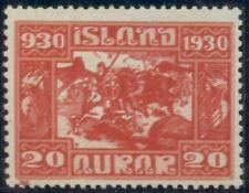 ICELAND #157a, 20aur Parliament, DOUBLE IMPRESSION, og, LH, VF, signed Pollak,