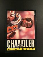 1985 Topps # 370 WES CHANDLER San Diego Chargers