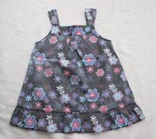 Attention  Tunika Bluse Gr. 116 122 Baumwolle schwarz Blumen Rüschen blau pink