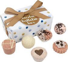 Bath Bomb Gift Set Her Womens Beauty Hamper Pamper Melt Pack Chocolate Scents