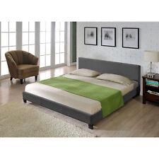 Textil Doppelbett Polsterbett 140x200cm Bettgestell Bett Lattenrost Stoff