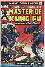Master of Kung Fu #21 (Oct 1974, Marvel) Moench/Wilson [Marston,Fu Manchu] FN/VF