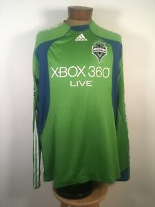 2009 Seattle Sounders FC Authentic Team Issued Long Sleeve MLS Soccer Jersey 2XL