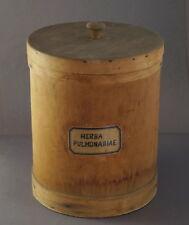 XXL Apotheker Deckeldose,  Deckelgefäß aus Holz  ~ 1900/1920   (# 7158)