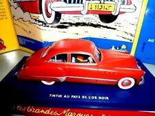 BUICK L´AMERICAINE ROUGE TINTI AU PAY DE L´OR NOIR-TINTIN EN VOITURE ATLAS N: 1