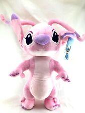 "Disney Lilo And Stitch Angel Jumbo 17"" Plush/Crossbody Bag- Pink"
