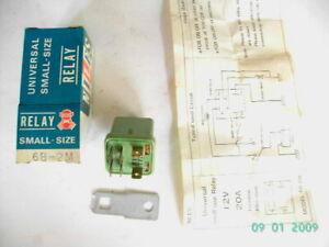 DATSUN SUNNY/CEDRIC/STANZA 12V SMALL RELAY UNIT 6 PINS (GREEN)(JAPAN)(NOS)