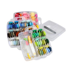 Embroidery Threads Rainbow Color Cross Stitch String with Organizer Storage Box