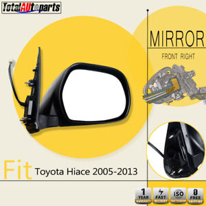 Front Right Electric Side Mirror for Toyota Hiace H200 Series Van 2005-2013