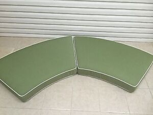 2 pc Frontgate Monterey Outdoor Round Patio Loveseat Sofa Cushions 27x104 NEW