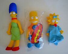 The Simpson's Burger King Stuff Toy 1990 20th Century Fox  Bart, Marge & Maggie