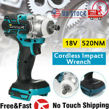 520nm 12 For Makita 18v Brushless Cordless Impact Wrench With Battery Charger
