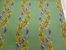 Green Olives, Olive Vines Retro Printed 100% Cotton Curtain Fabric (reduced)