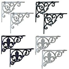 "Shelf brackets, Victorian style, aluminium, 9"" and 8.5"" sizes"