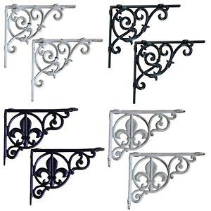 "Shelf brackets, Victorian style, aluminium, 9"" and 8.5"" sizes"