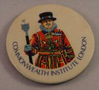 Vintage Commonwealth Institute Of London Pin Pinback Button Badge