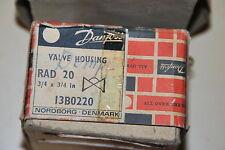 DANFOSS VALVE HOUSING RAD 20 3/4 x 3/4 in 13-BO220 VALVE PLUMBING BANKRUPTCY NEU