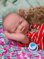 "Baby Boy Doll Toy Berenguer 14"" Real Alive Soft Vinyl Preemie Handmade LifeLike"