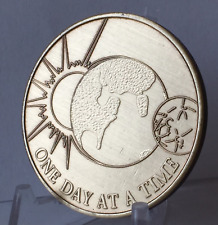 One Day At a Time Universe with the Serenity Prayer Bronze Medallion