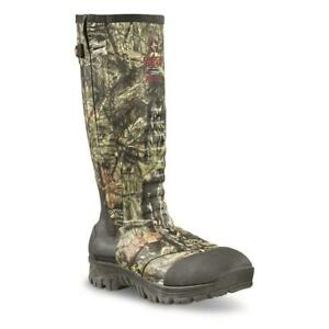 New 17 in Men's Side Zip Ankle Fit Insulated Rubber Boots, 2,000-gram Mossy