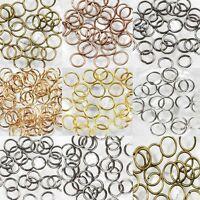 Practical 50-500Pcs Split Loop Split Jump Ring Open Rings Findings DIY 4-14mm