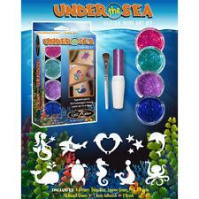 Under the Sea Glitter Tattoo Kit - Temporary Tattoos & Body Art by GlitZGlam