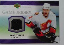 2007-08 Upper Deck Game Jersey Brad Stuart Los Angeles Kings - BLACK