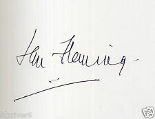 IAN FLEMING Signed Card - Writer / Author - James Bond books - preprint
