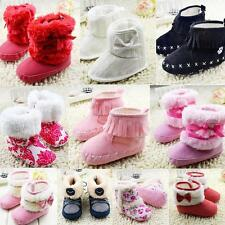 Baby Boys Girls Warm Shoes Winter Snow Boots Fur Toddler Crib Shoes 0-18 Months