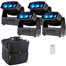 4 x ADJ Chameleon QBar Pro LED Uplighter DJ Disco Wifi Wireless DMX Package