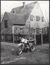 YZ0410 Motocicletta MZ - Fotografia d'epoca - Vintage photo