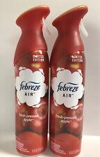 (2) Febreze Air Effects-LIMITED EDITION-Fresh Pressed Apple-Air Freshener-8.8oz