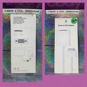 Genuine Apple A-1368 30-pin to VGA Adapter MC552ZM/B - Apple Cords - NEW!