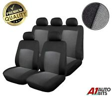 6pc Universal Full Car Seat Covers Set Protectors Grey Black Washable New In Bag