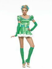 Leg Avenue 83414 NEW Green Fairytail 5 Pc Emerald Girl Costume Cosplay S, M, L