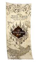 Harry Potter XL Handtuch Marauder's Map, weiches Badetuch Saunatuch, 80 x 180 cm