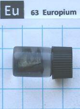 ~1 gram 99,9% Europium Metal in glass vial - Pure Element 63 sample