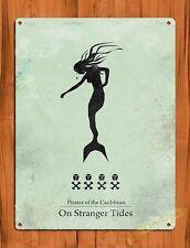 TIN SIGN Disney Pirates Of The Caribbean On Stranger Tides Movie Ride Art Poster
