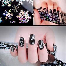 3D Noël Neige Rouleau Foil Sticker Ongle Autocollant Décoration Nail Art Tips