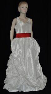 Kleid PACA Blumenmädchen Hochzeit Kommunionkleid festlich Taft Gr. 140 (11)