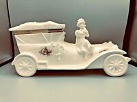 Vintage Berger Rolls Royce w/ Woman sitting on Hood Trinket Box Made in Italy