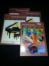 ALFRED'S BASIC PIANO LIBRARY BOOKS LEVEL 6 SET OF 4