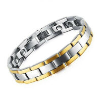 Men Stainless Steel Magnetic Therapy Health Bracelet Pain Relief for Arthritis