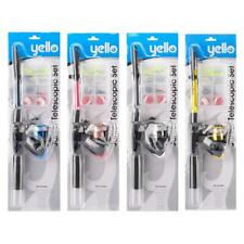 Yello Junior Telescopic Fishing Rod Set Assorted Colours