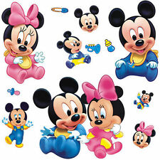 New Wall Sticker Decal Mickey and Minnie Mouse, Home Decor Removable DIY