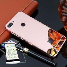 Pare-chocs en aluminium de 2 pièces rose + 0,3 H9 verre pour Huawei P Smart