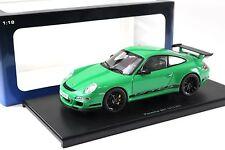1:18 Autoart Porsche 911 (997) gt3 RS Green/Black New en Premium-modelcars