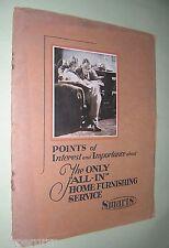 SMARTS (LONDON) HOME FURNISHING CATALOGUE. 1930. ILLUSTRATED. BROCHURE. ADVERTS