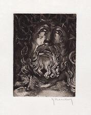 """Sharp Roger HEBBELINCK ORIGINAL Etching """"Crown of Thorns"""" Framed HAND SIGNED COA"""