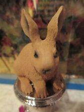 Brown Rabbit ~ Wine Stopper ~ hand painted resin